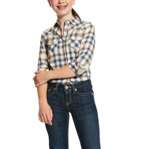 Ariat Kids R.E.A.L. Natural Long Sleeve Snap Shirt