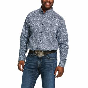 Ariat Mens Nellings Print Classic Fit Long Sleeve Shirt