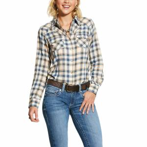 Ariat Ladies R.E.A.L. Natural Long Sleeve Snap Shirt