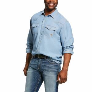 Ariat Mens Johnstown Retro Fit Long Sleeve Snap Shirt