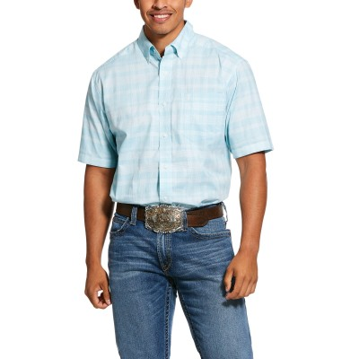 Ariat Mens Pro Series Neptune Stretch Classic Fit Short Sleeve Shirt