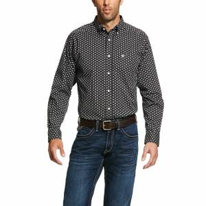 Ariat Mens Kazings Print Stretch Fitted Long Sleeve Shirt