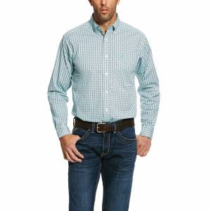 Ariat Mens Oldsmar Print Stretch Fitted Long Sleeve Shirt