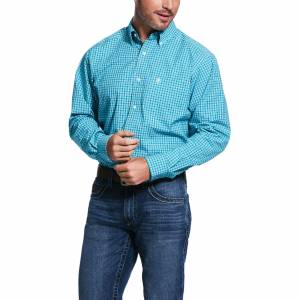Ariat Mens Pro Series Vernell Fitted Long Sleeve Shirt
