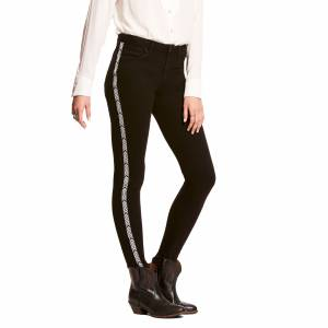 Ariat Ladies Ultra Stretch Perfect Rise Chevron Black Skinny Jeans