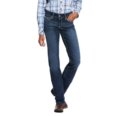 Ariat Ladies R.E.A.L. Mid Rise Arrow Fit Stretch Lucia Straight Jeans