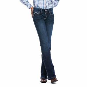 Ariat Ladies R.E.A.L. Low Rise Stretch Glitz Boot Cut Jeans