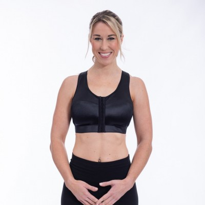 ENELL Full Figure Medium Impact Racerback Equestrian Sports Bra