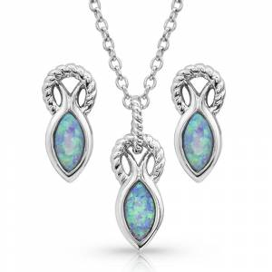 Montana Silversmiths Rooted in Water Jewelry Set