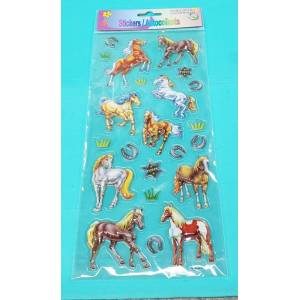 AWST Assorted 3-D Horse Stickers