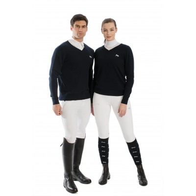 Horseware Signature Adult Cotton Knitted V-Neck Sweater