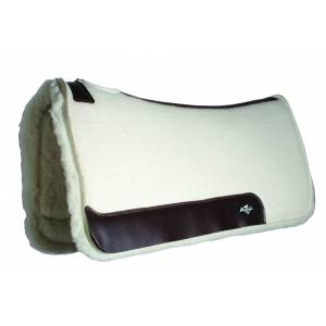Professionals Choice Steam Pressed Comfort-Fit Wool Saddle Pad - 28 x 30