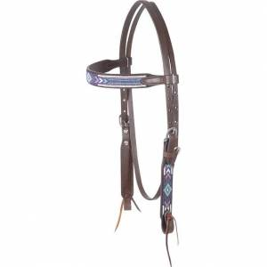 Cashel Beaded Browband Headstall - Angel Fire
