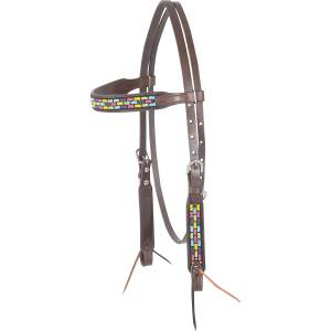 Cashel Beaded Browband Headstall - Roswell