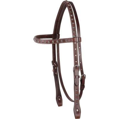 Cashel Browband Headstall with Antique Dots
