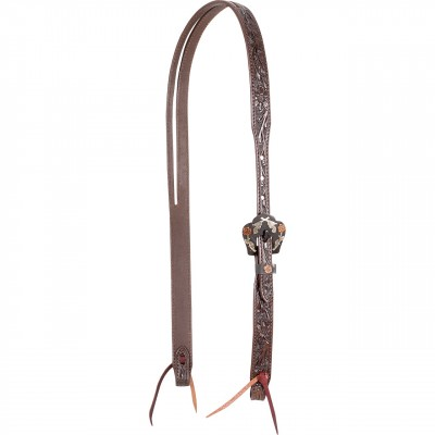Cashel Split Ear Guns & Roses Tooled Headstall