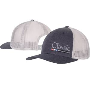 Classic Rope Mens Snapback Mesh Cap with Poly Press Logo