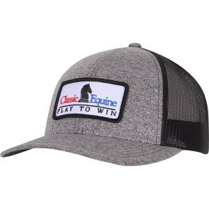 Classic Equine Mens Snapback Mesh Cap with Embroidered Patch Logo