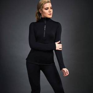Dublin Ladies Black Leslie Half Zip Thermal Top