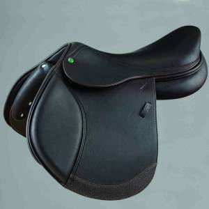 Crosby Hunter Jumper Covered Close Contact Jump Saddle Covered Dark Brown 16.5
