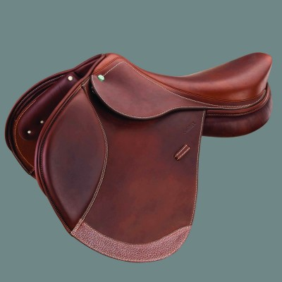 Crosby Hunter Jumper Covered Close Contact Jump Saddle Covered Oiled Cognac 17.5