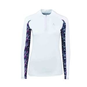 Dublin Ladies Black Alegra Print Long Sleeve Competition Top II
