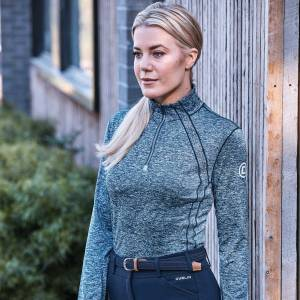 Dublin Ladies Maddison Long Sleeve Technical Airflow 1/4 Zip Top