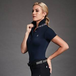 Dublin Ladies Black Karina Short Sleeve Technical Polo
