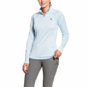 Ariat Ladies Sunstopper 2.0 1/4 Zip Baselayer Shirt