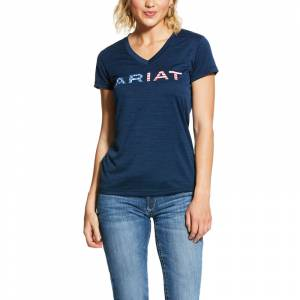 Ariat Ladies Laguna Short Sleeve Logo Top