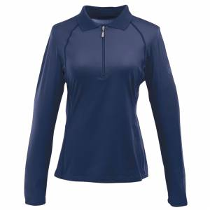 Ovation Ladies Thesie Tech Long Sleeve Polo Shirt