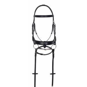 Aramas Square Mild Raised Wide Dressage Bridle with Leather Reins