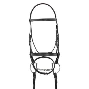 HK Americana Raised Padded Event Bridle with Flash and Web Reins