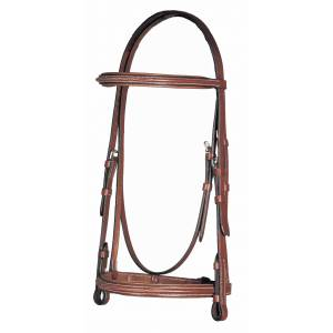 HK Americana Fancy Raised Padded Bridle with Fancy Stitch Lace Reins