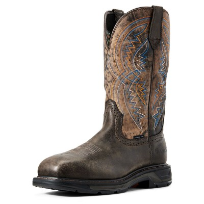 Ariat Mens WorkHog XT Coil Wide Square Toe Carbon Toe Work Boots