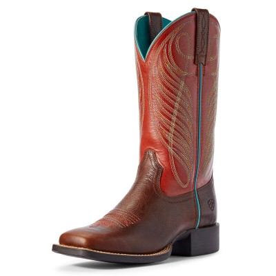 Ariat Ladies Round Up Wide Square Toe Western Boots
