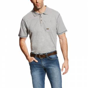 Ariat Mens Rebar Workman Short Sleeve Polo