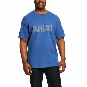 Ariat Mens Rebar Cotton Strong Block T-Shirt
