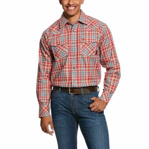 Ariat Mens FR Garrison Retro Fit Snap Work Shirt