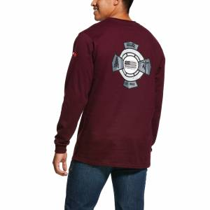Ariat Mens FR O&G Graphic Long Sleeve T-Shirt