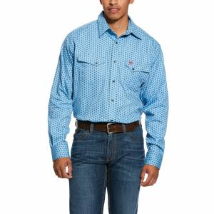 Ariat Mens FR Tungsten Classic Fit Snap Long Sleeve Work Shirt