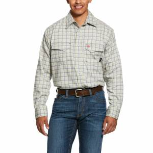 Ariat Mens FR Whetstone Classic Fit Snap Work Shirt