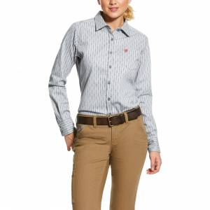 Ariat Ladies FR Quartz Long Sleeve Work Shirt
