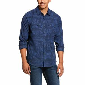 Ariat Mens Jericho Retro Fit Snap Long Sleeve Shirt