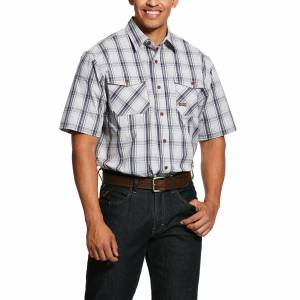 Ariat Mens Rebar Made Tough DuraStretch Short Sleeve Work Shirt