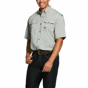 Ariat Mens Rebar Made Tough VentTEK DuraStretch Short Sleeve Work Shirt