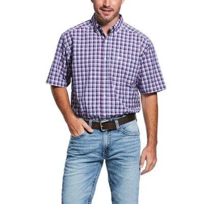 Ariat Mens Pro Series Torrance Short Sleeve Classic Fit Shirt