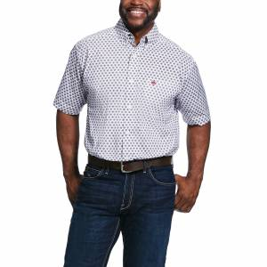 Ariat Mens Thomaston Print Stretch Short Sleeve Classic Fit Shirt