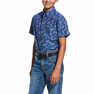 Ariat Kids Tavares Print Short Sleeve Classic Fit Shirt