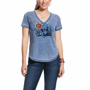 Ariat Ladies Aztec Sun Short Sleeve T-Shirt